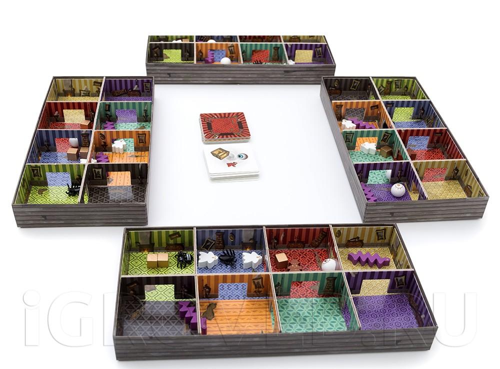 Игровой процесс настольной игры Паника в поместье (Panic Mansion)