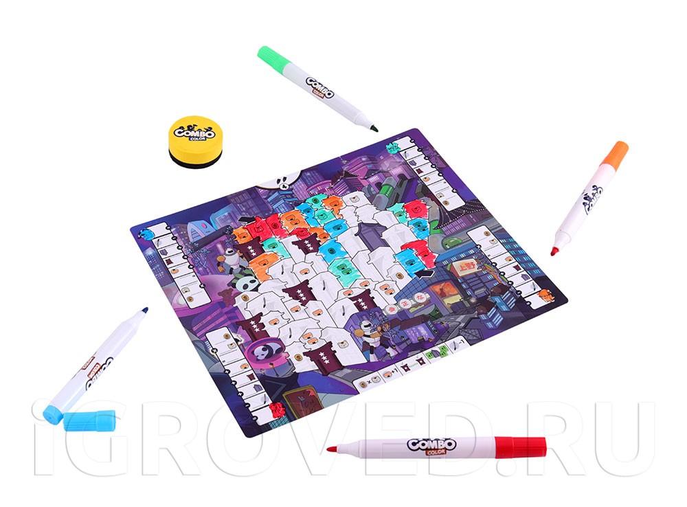 Игровой процесс настольной игры Цветные сражения
