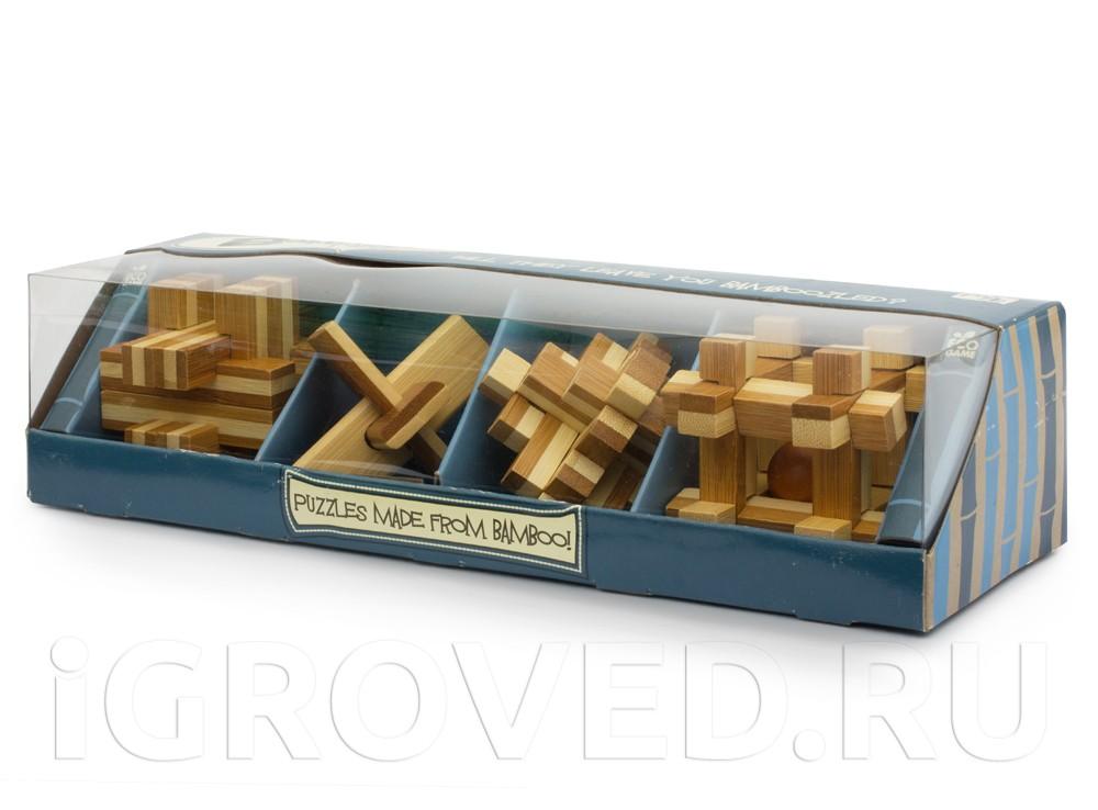 Коробка с Набором из 4 головоломок Бамбузлеры