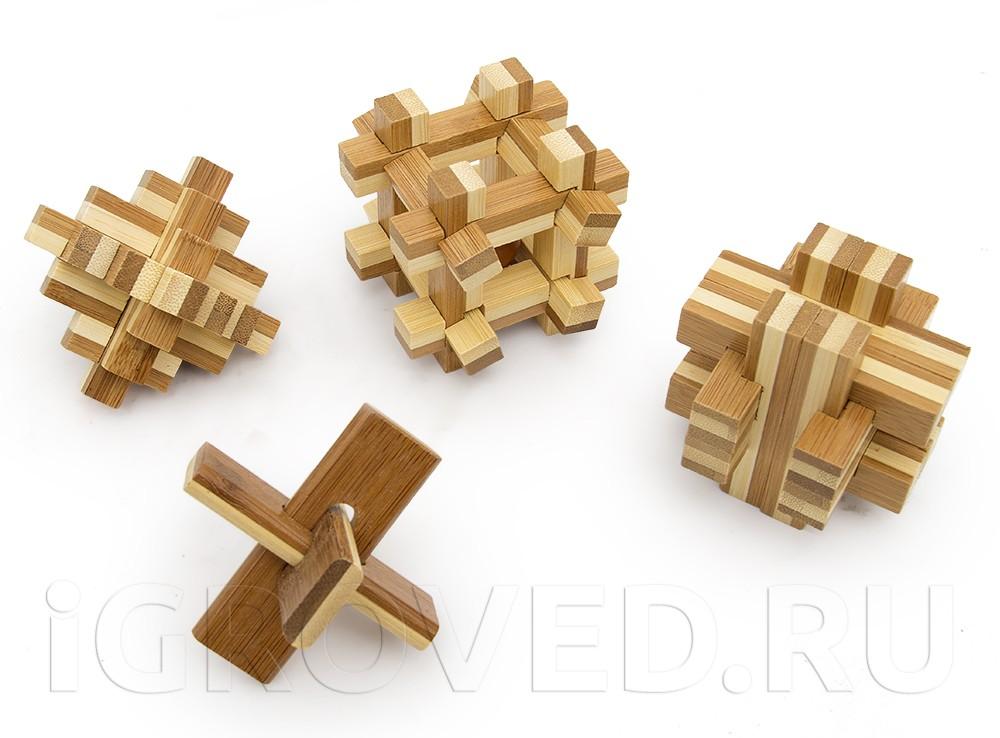 Набор из 4 головоломок Бамбузлеры