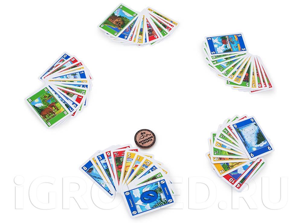 Игровой процесс настольной игры Начальник курорта