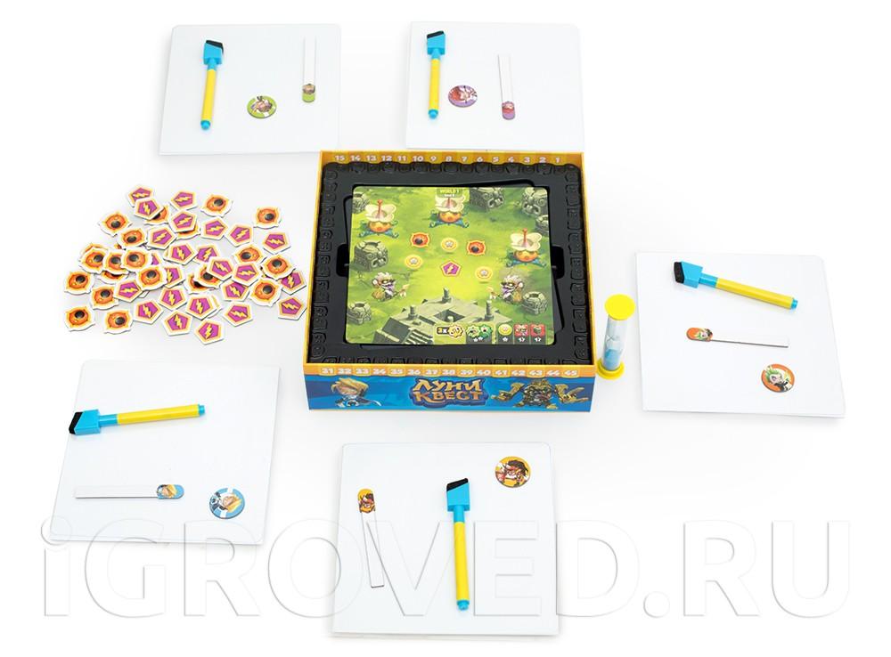 Игровой процесс настольной игры Луни Квест (Loony Quest)