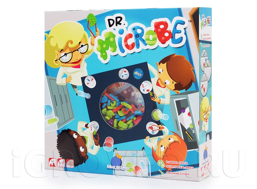 Коробка настольной игры Доктор Микроб