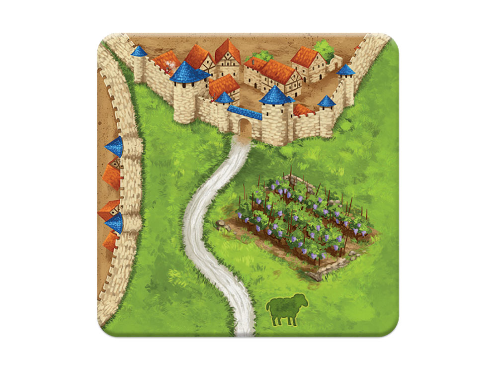 Компоненты настольной игры Каркассон: Холмы и Овцы
