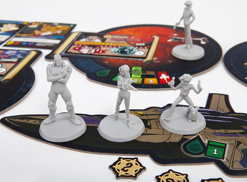 Фигурки персонажей настольной игры Ковбой Бибоп