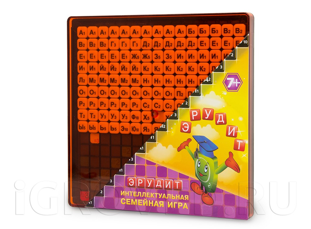 Коробка настольной игры Эрудит