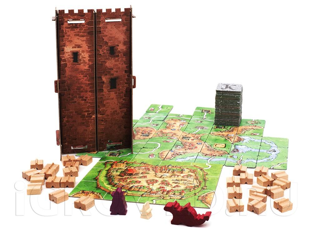 Компоненты настольной игры Каркассон: Дворяне и Башни (дополнения)