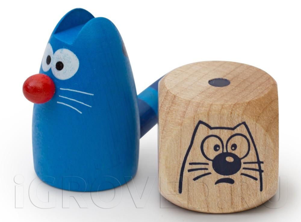 Фигурка кота Мурзика и кубик