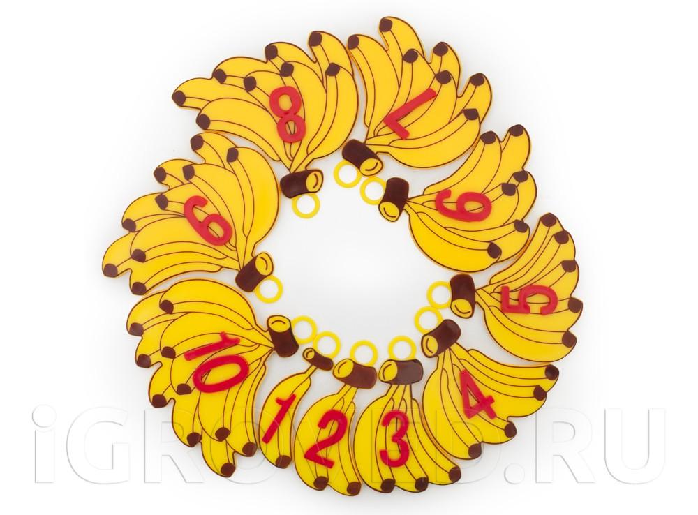 Фишки-бананы с числами от 1 до 10