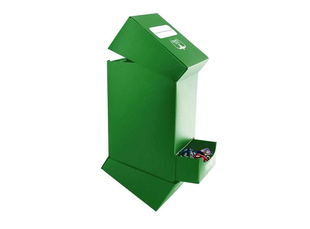 Коробочка Ultimate Guard с 2 отделениями зелёная (100 карт)