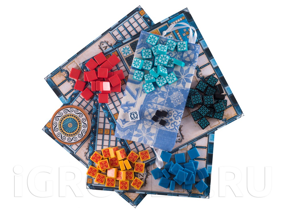 Компоненты настольной игры Азул (Azul)