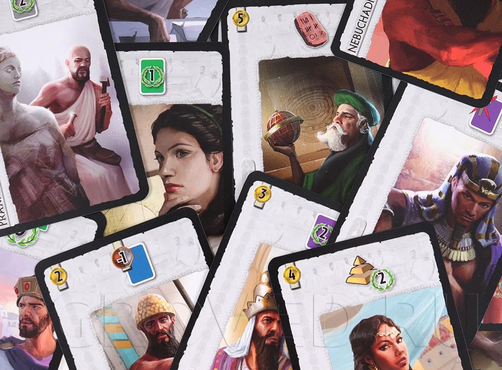 Компоненты настольной игры 7 чудес: Лидеры (7 Wonders: Leaders, дополнение) ML