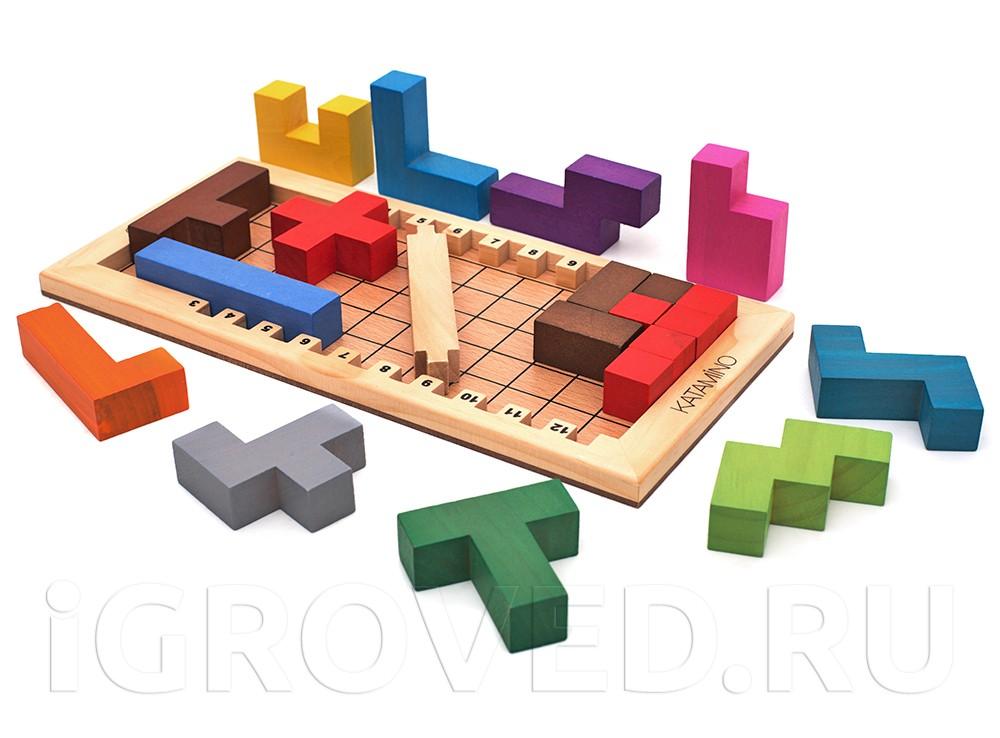 Компоненты настольной игры Катамино (Katamino)