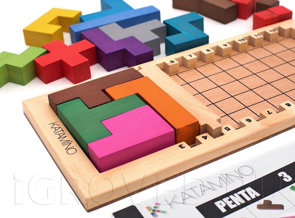 Вариант игры Малый слем для детей от 6 лет. Настольная игра Катамино (Katamino)