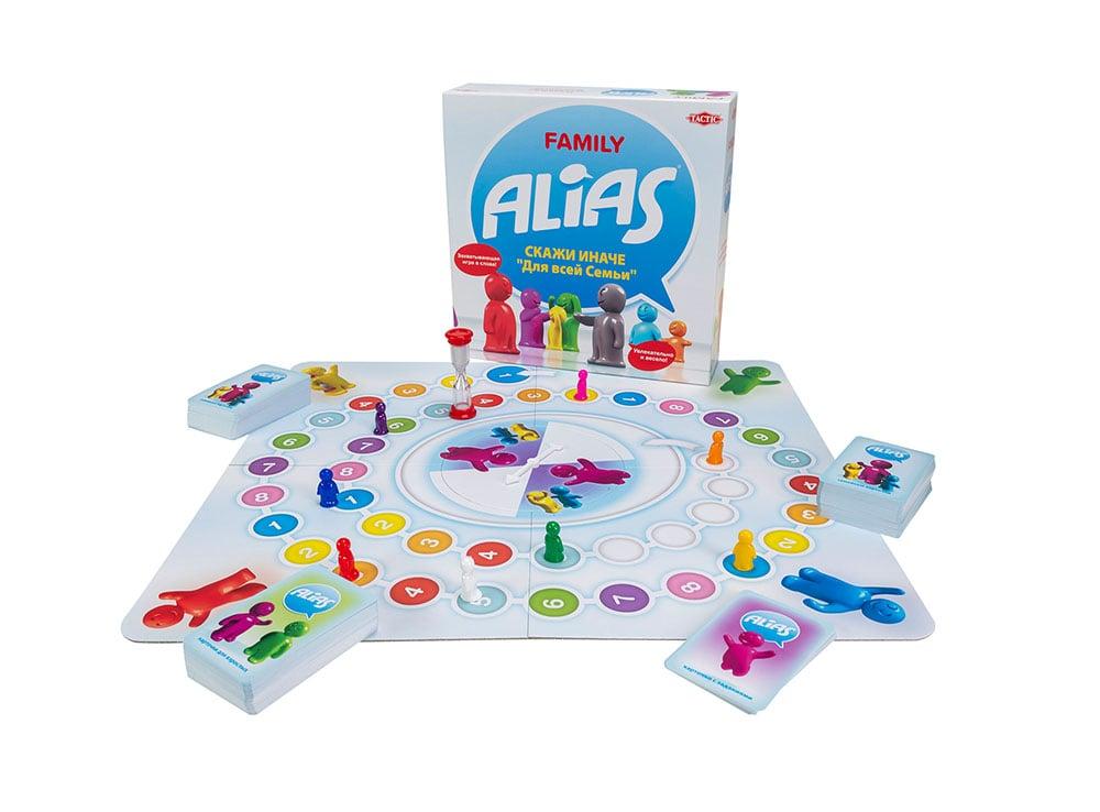 Компоненты настольной игры Алиас для всей семьи