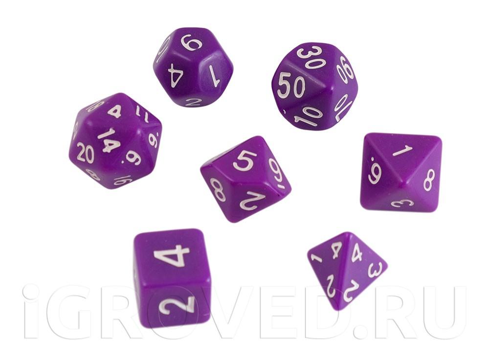 Набор кубиков STUFF PRO для ролевых игр. Фиолетовые