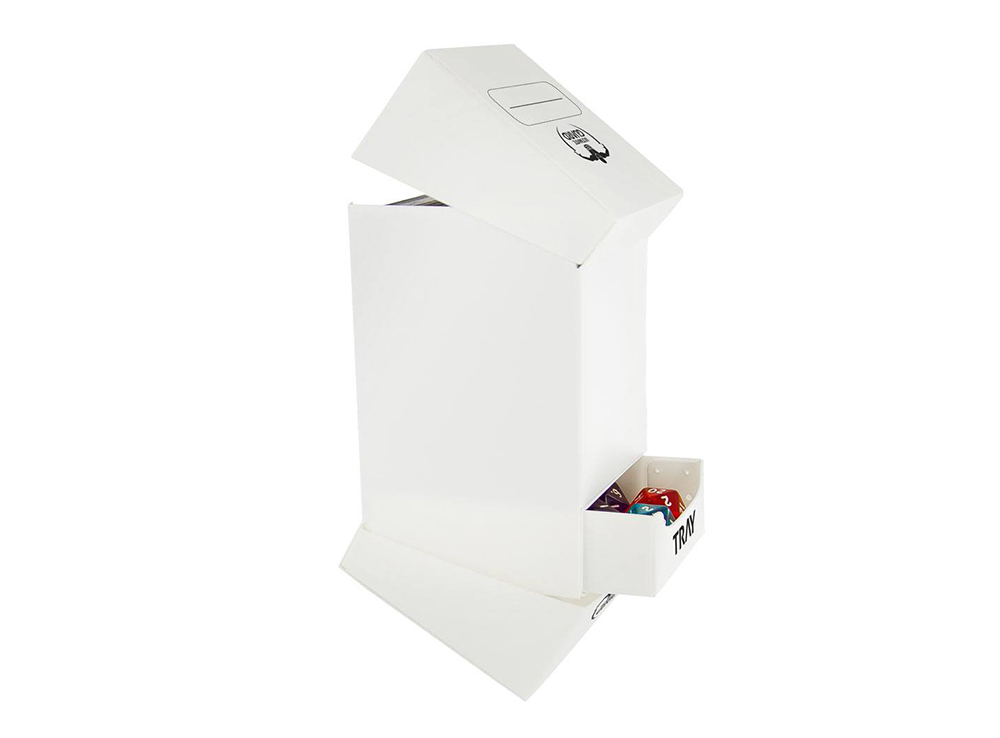 Коробочка Ultimate Guard с 2 отделениями белая (100 карт)