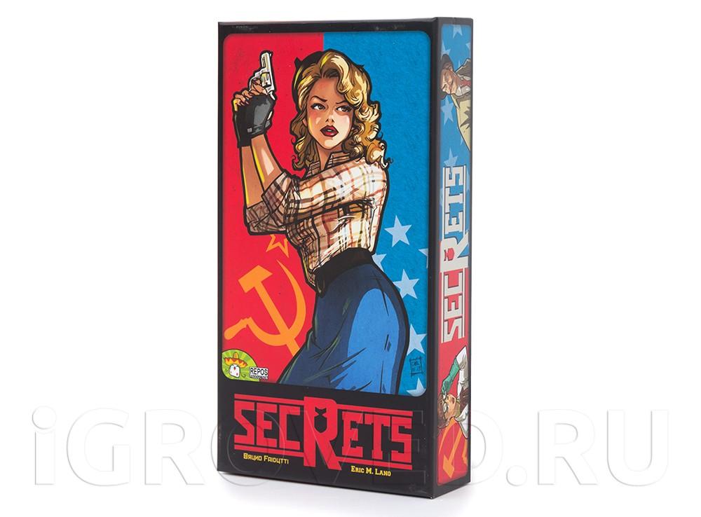 Коробка настольной игры Агенты и хиппи (Secrets)