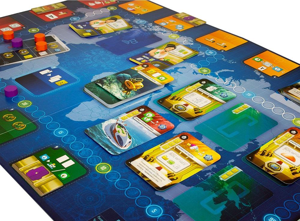 Компоненты настольной игры Подводные города
