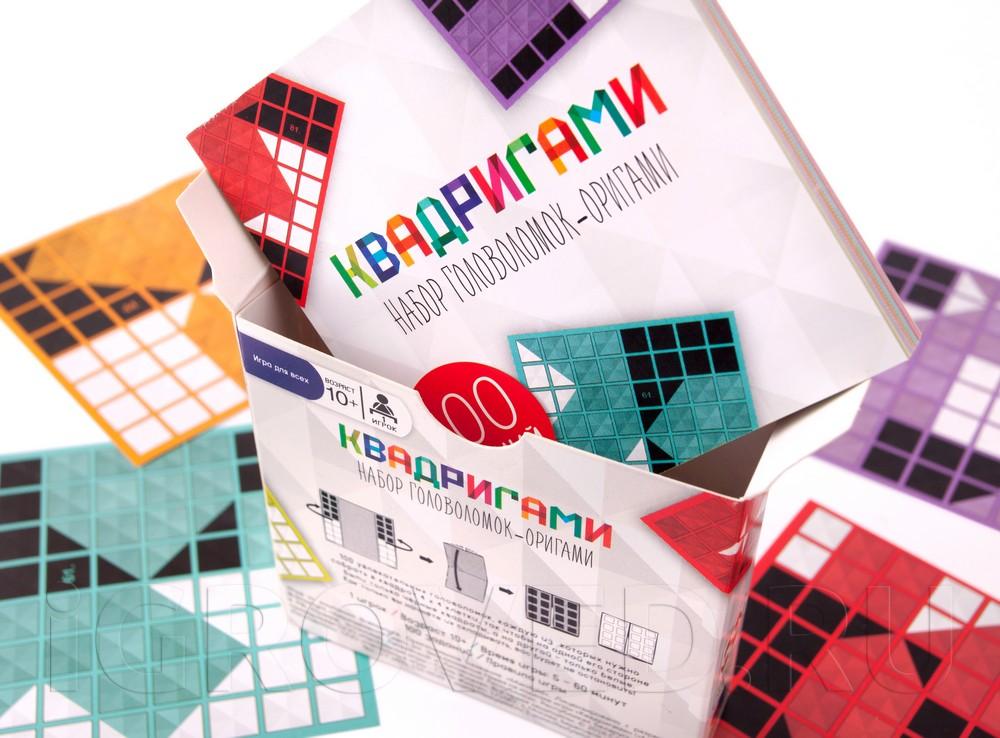 Настольная игра-головоломка Квадригами: набор головоломок