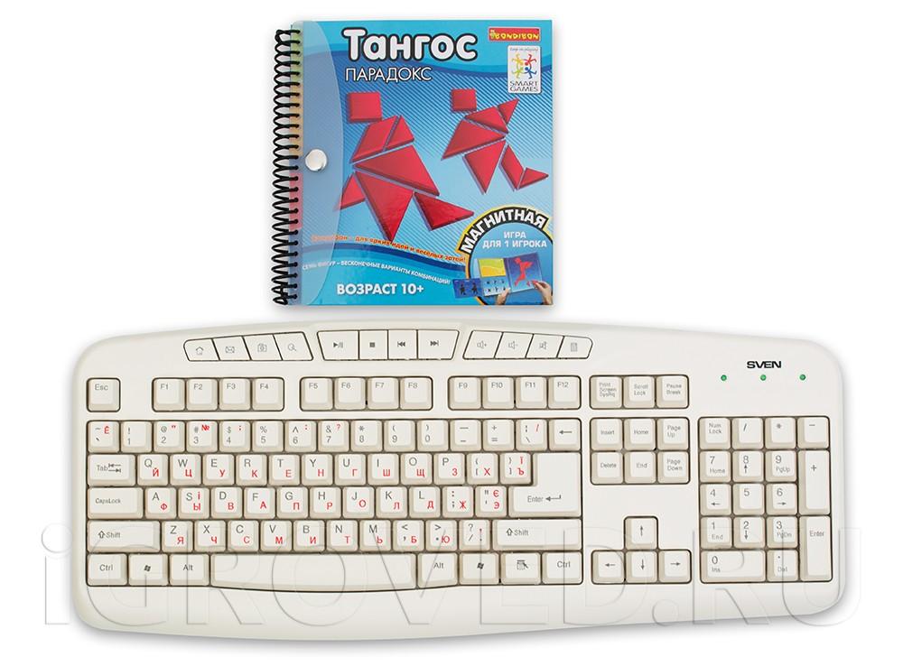 Папка настольной игры-головоломки Тангос: Парадокс в сравнении с клавиатурой