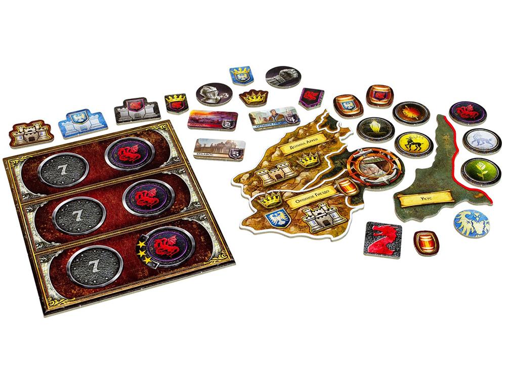 Компоненты настольной игры Игра престолов. Мать драконов (дополнение)