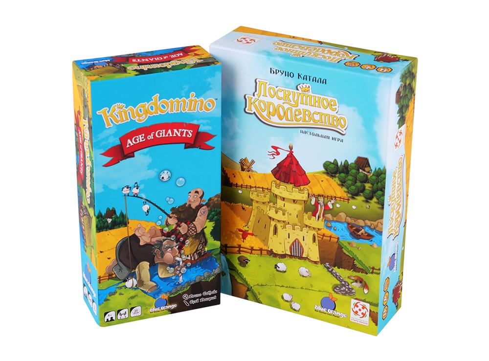 Коробка базовой игры Лоскутное королевство и дополнения Век великанов
