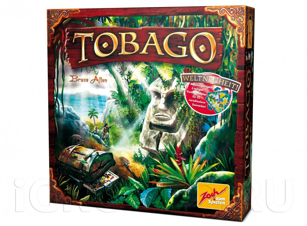 Коробка настольной игры Тобаго (Tobago)