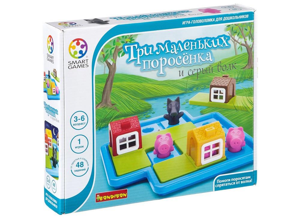 Коробка настольной игры-головоломки Три маленьких поросёнка