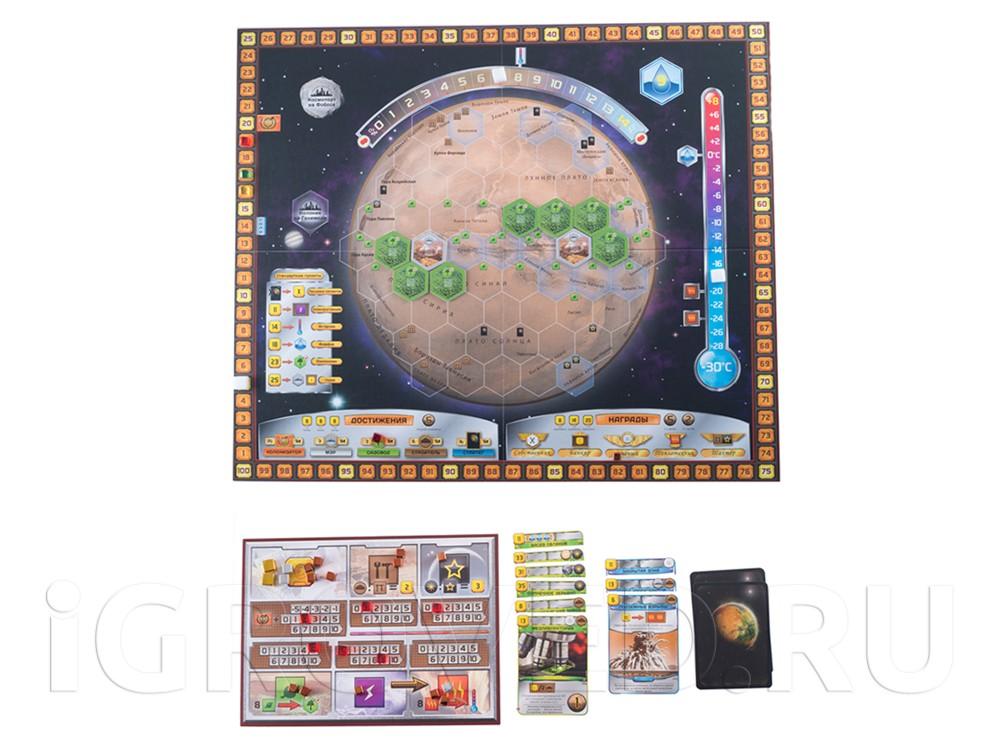 Компоненты настольной игры Покорение Марса (Terraforming Mars)
