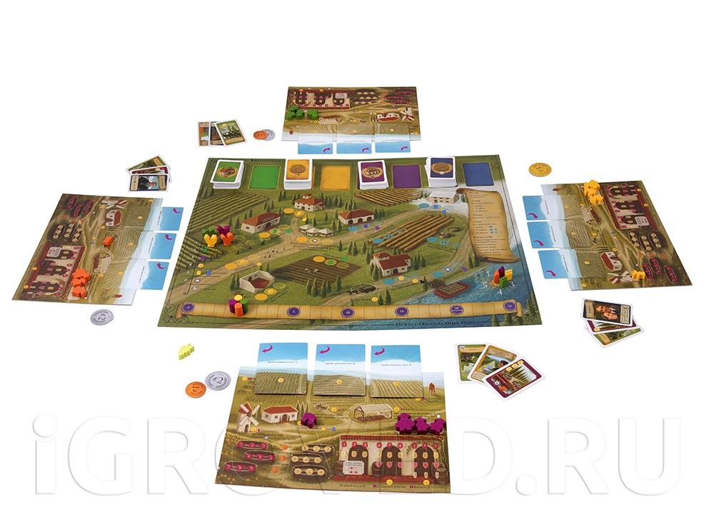 Игровой процесс настольной игры Виноделие. Полное издание