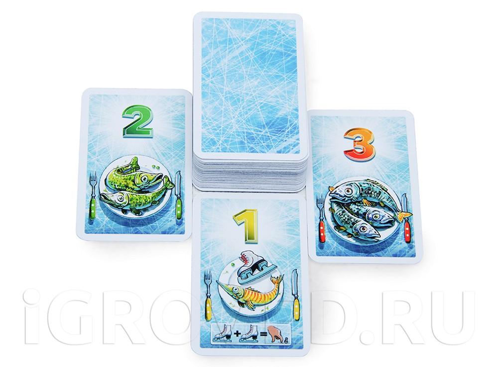 Рыбные карты, приносящие победные очки. Настольная игра Айс-класс (Ice-cool)