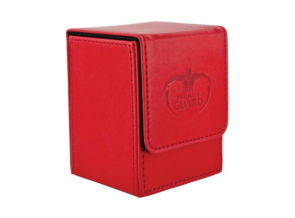 Коробочка Ultimate Guard под кожу красная (100 карт)