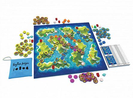 Компоненты настольной игры Голубая лагуна