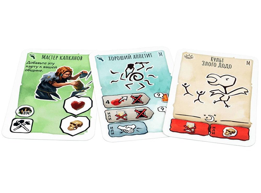 Компоненты настольной игры Палео: Ужасные птицы