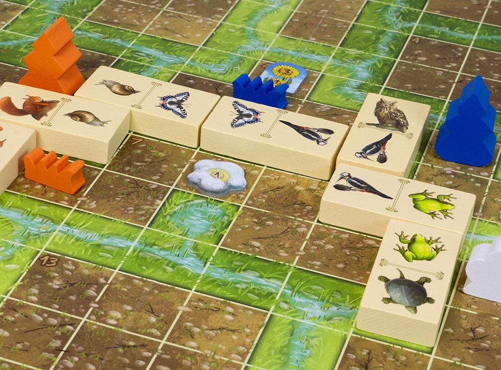 Игровое поле и компоненты настольной игры Расцвет