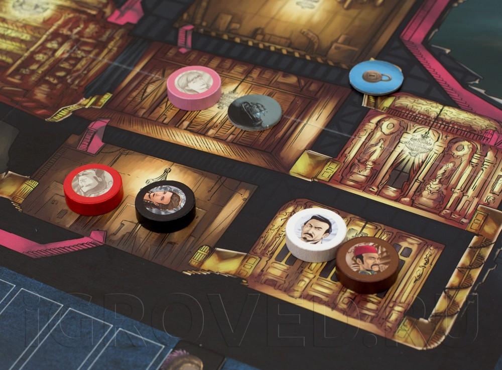 Игровой процесс настольной игры Призрак Оперы (Le Fantome de l'Opera)
