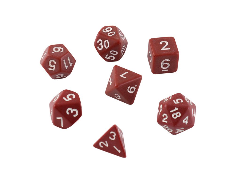 Набор кубиков STUFF PRO для ролевых игр. Кофейные
