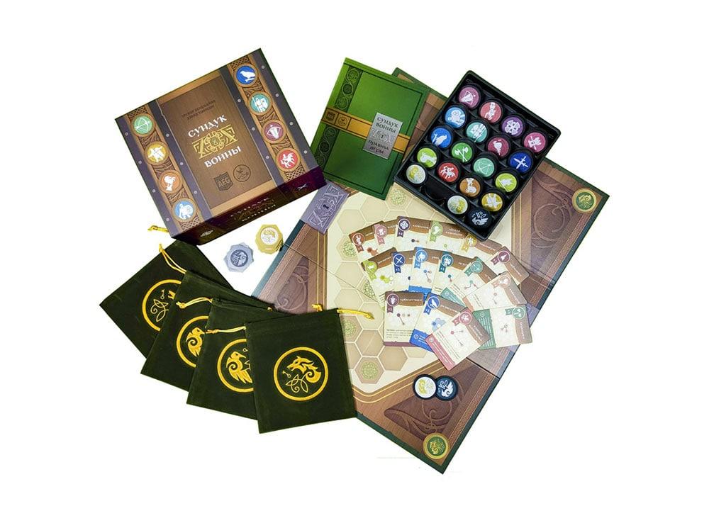 Коробка и компоненты настольной игры Сундук войны