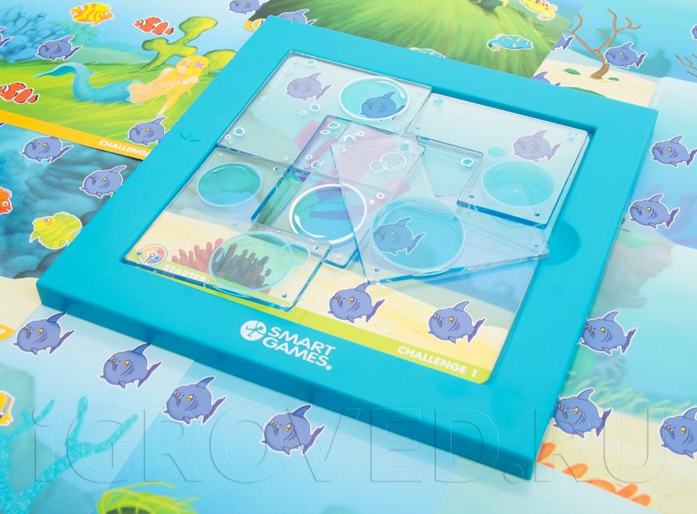 Компоненты настольной игры-головоломки Русалочки