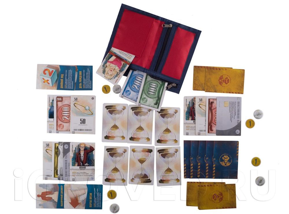 Бумажник, полный денег, драгоценностей, карточек и поддельных паспортов! Настольная игра Бумажник