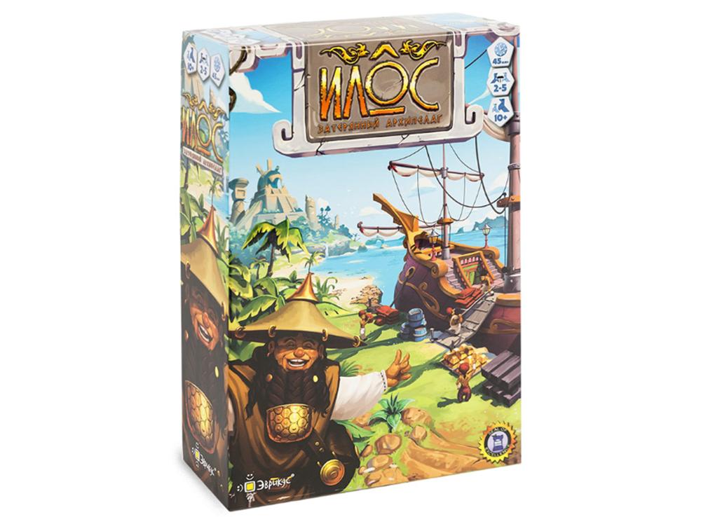 Коробка настольной игры Илос. Затерянный архипелаг