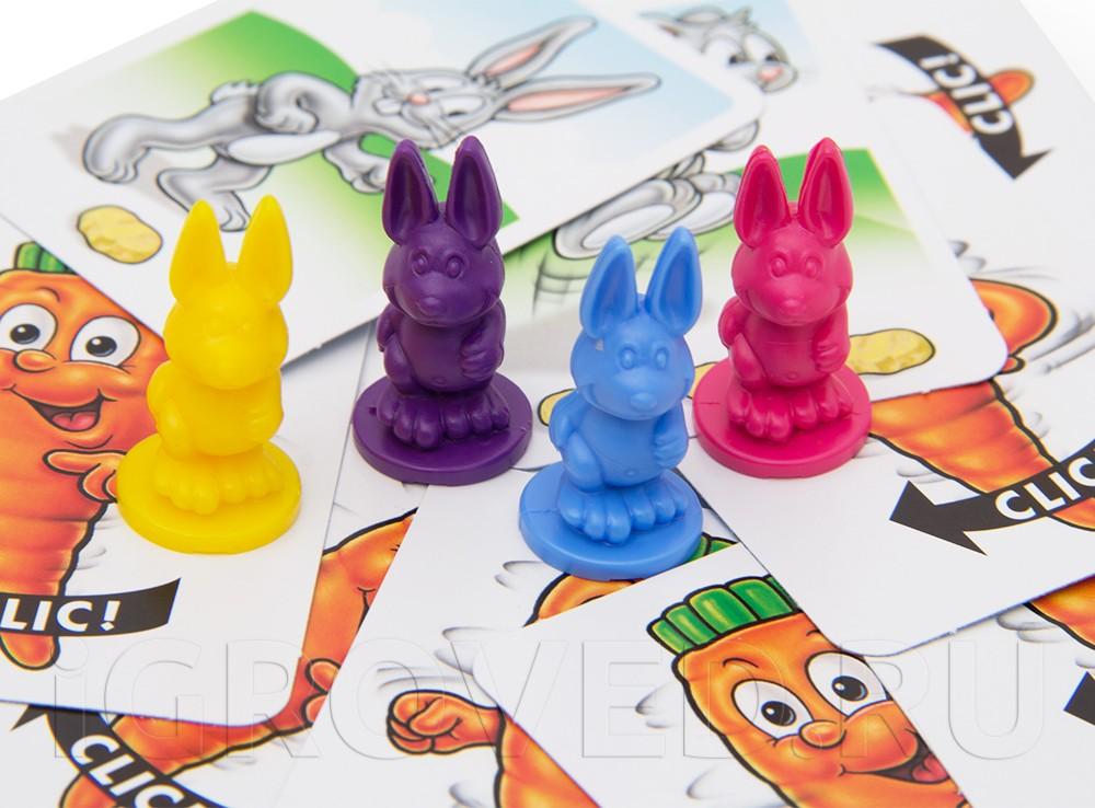 Компоненты настольной игры Выдерни морковку