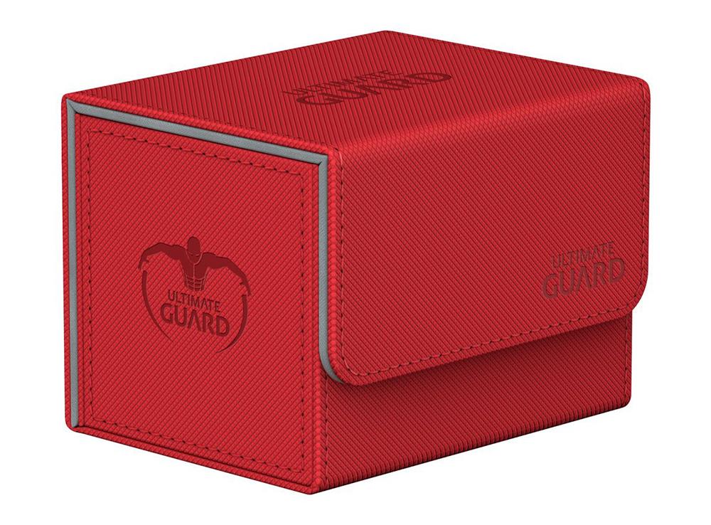 Коробочка Ultimate Guard с бок. загрузкой XenoSkin красная (100 карт)
