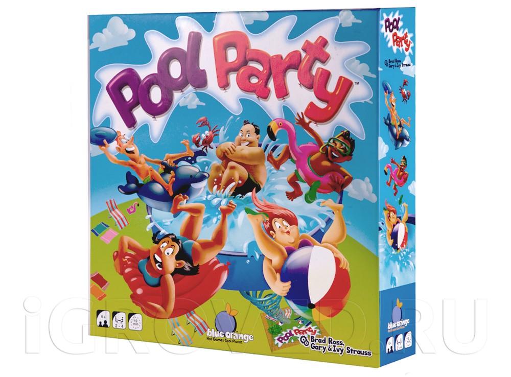 Коробка настольной игры Веселье в бассейне (Pool Party)