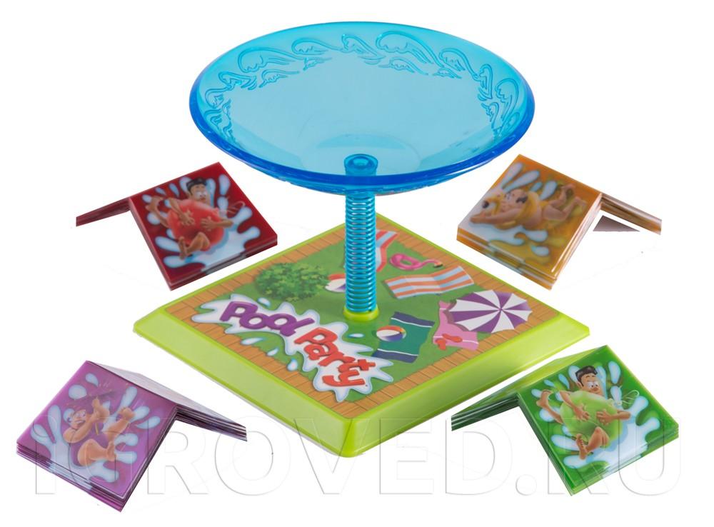 Компоненты настольной игры Веселье в бассейне (Pool Party)