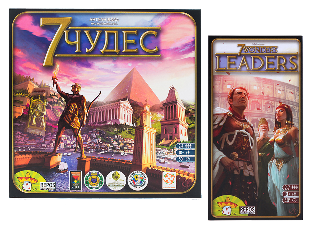 Настольная игра 7 Чудес + дополнение Лидеры