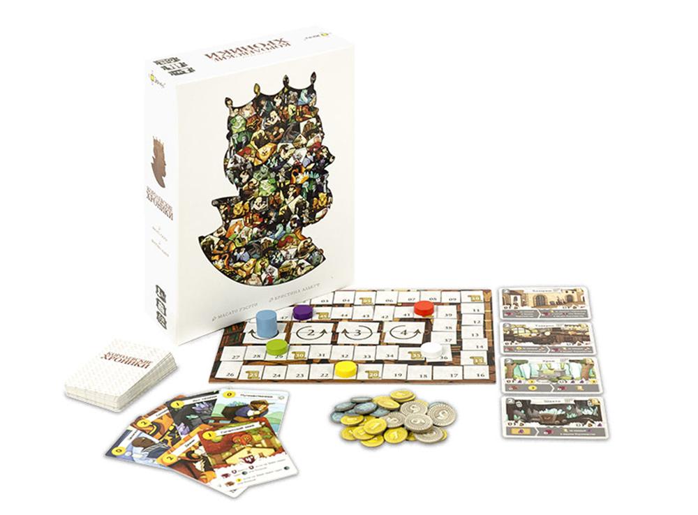 Коробка и компоненты настольной игры Королевские хроники