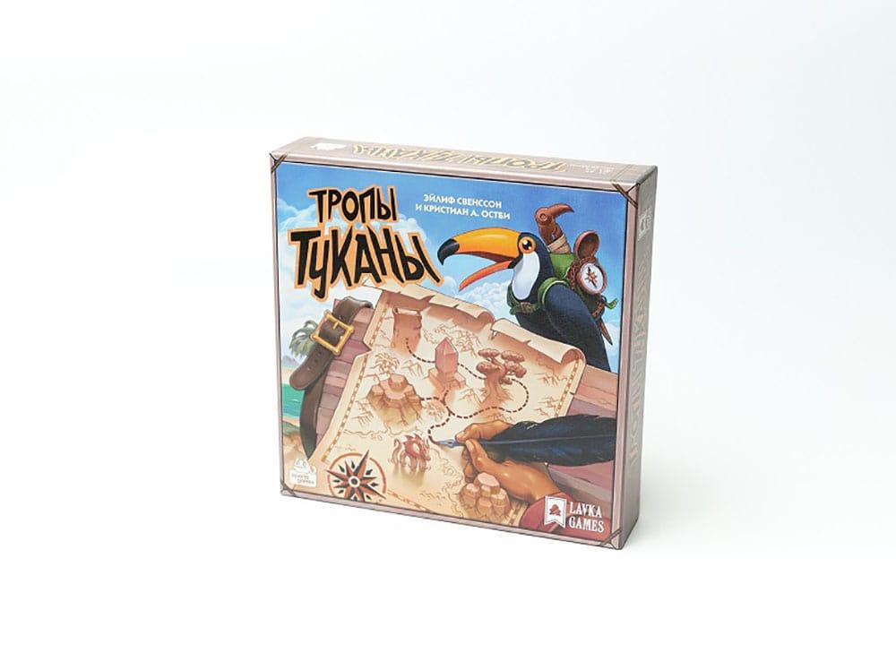 Коробка настольной игры Тропы Туканы