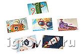 Карточки настольной игры Контраст